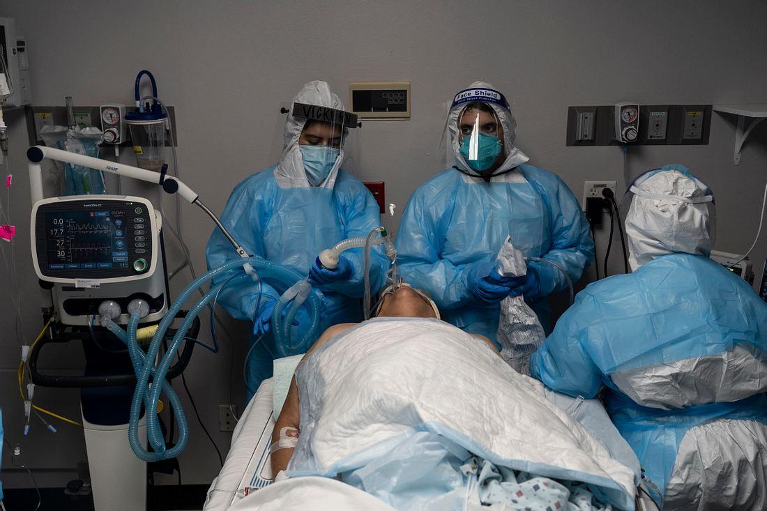 Corona-Patient, behandelndes Personal