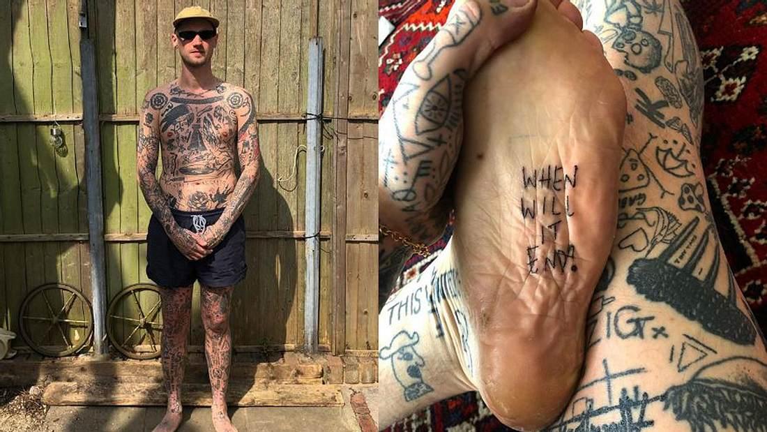 Corona-Quarantäne: Mann sticht sich jeden Tag neues Tattoo
