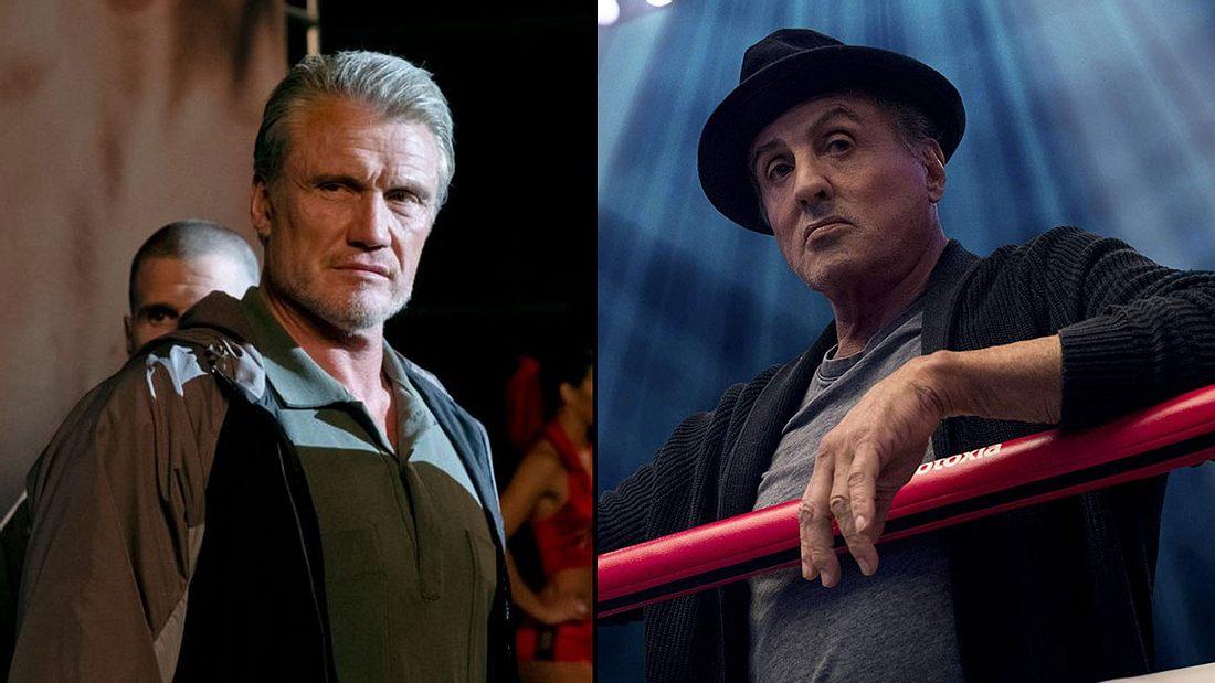 Dolph Lundgren und Sylvester Stallone in Creed 2