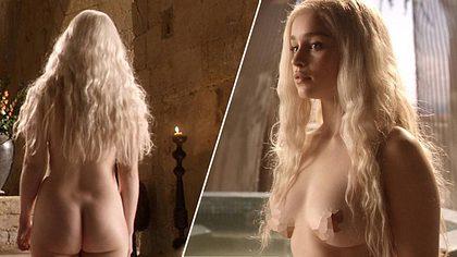 Die nackte Emilia Clarke alias Daenerys lässt Porno-Zahlen schrumpfen - Foto: Screenshots HBO