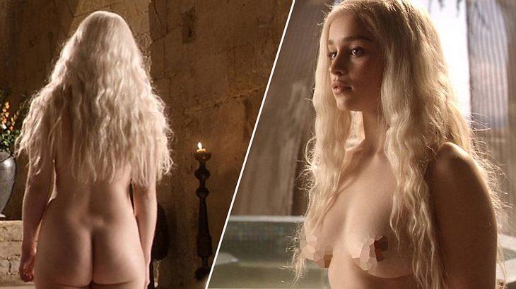 Die nackte Emilia Clarke alias Daenerys lässt Porno-Zahlen schrumpfen