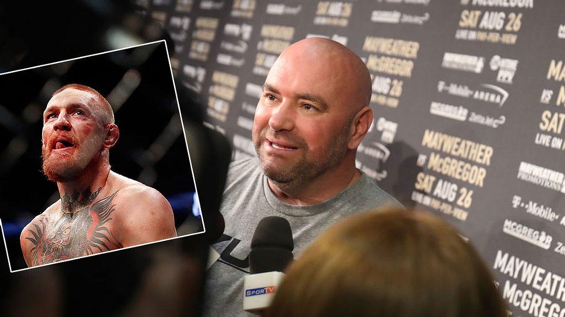 Dana White äußert sich zum Conor-McGregor-Rückritt (Collage).