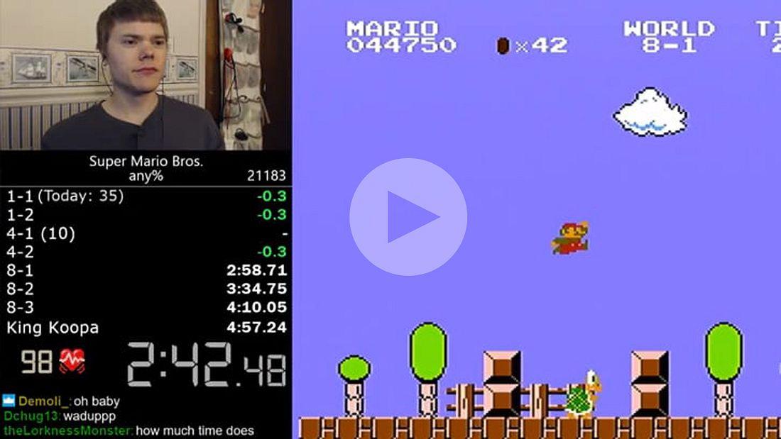 Speedgamer und YouTuber Darbian hat einen unfassbaren Weltrekord in Super Mario Bros aufgestellt
