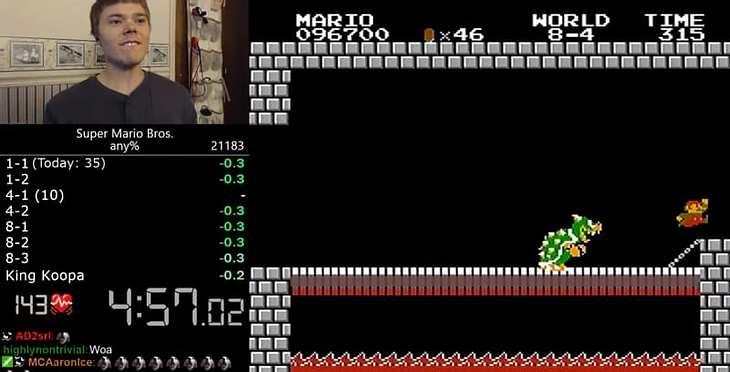 """YouTuber Darbian hat einen neuen Weltrekord in """"Super Mario Bros"""" aufgestellt"""