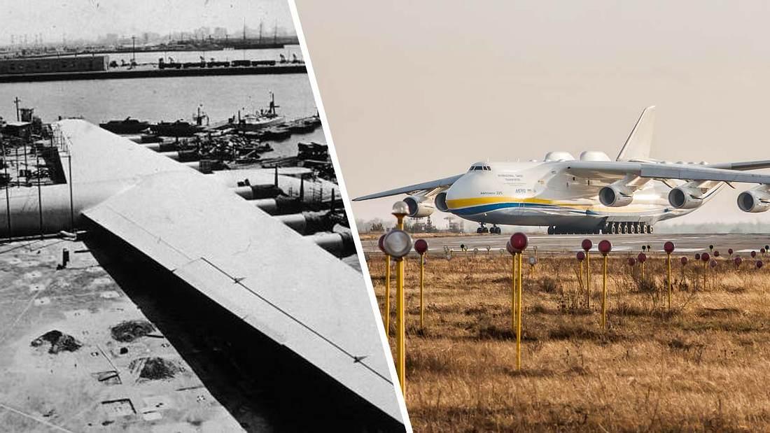 Die größte Spannweite und das größte Flugzeug der Welt