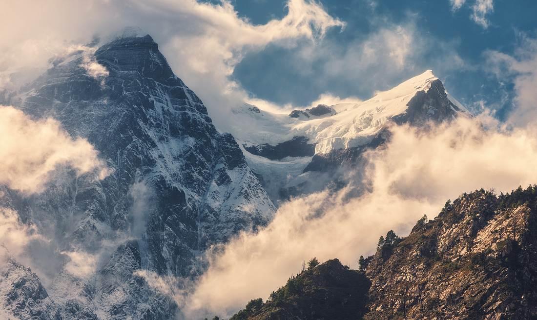 Das Himalaya-Gebirge in Nepal