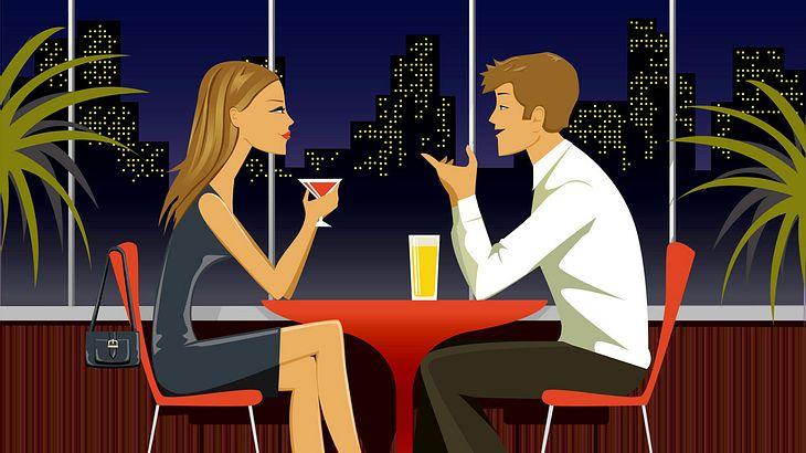 Auf zu viele Schirmchengetränke sollte man(n) beim ersten Date verzichten