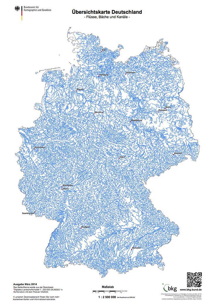 Deutschlands Flüsse, Bäche und Kanäle