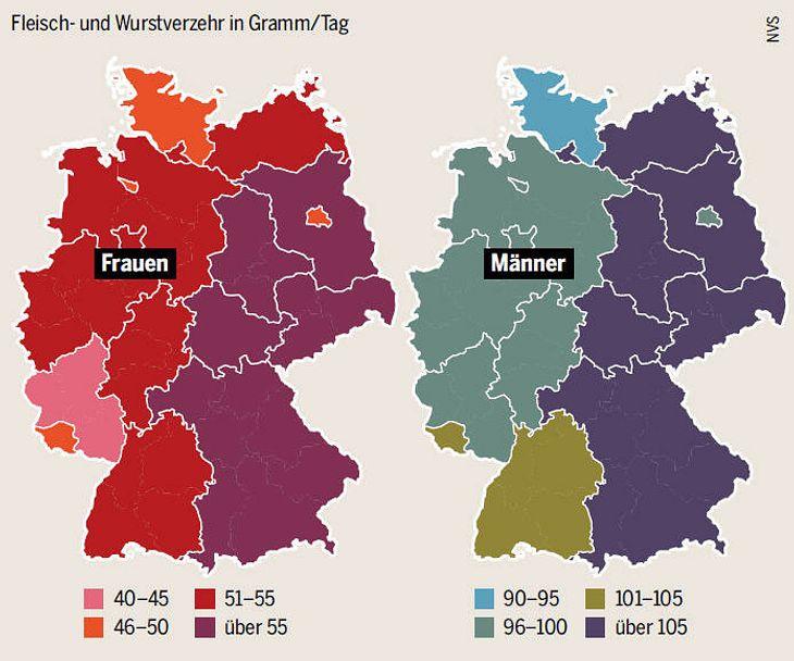 Fleisch- und Wurstkonsum in Deutschland