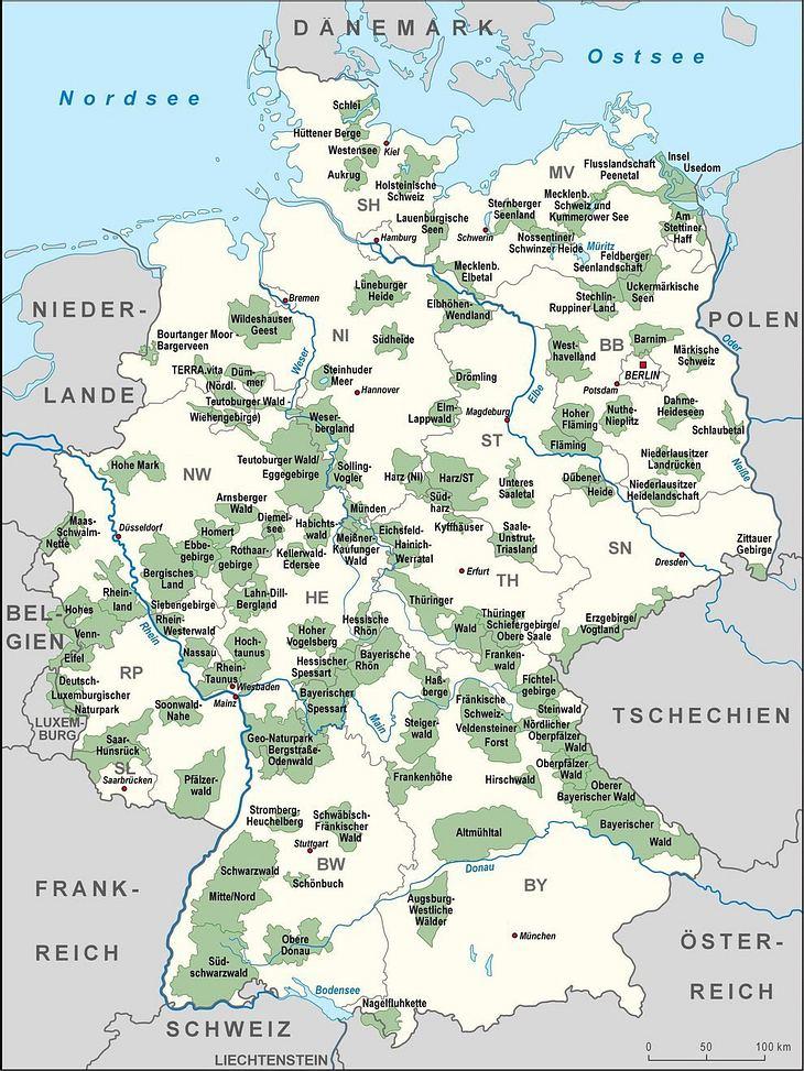 Natur- und Nationalparks in Deutschland