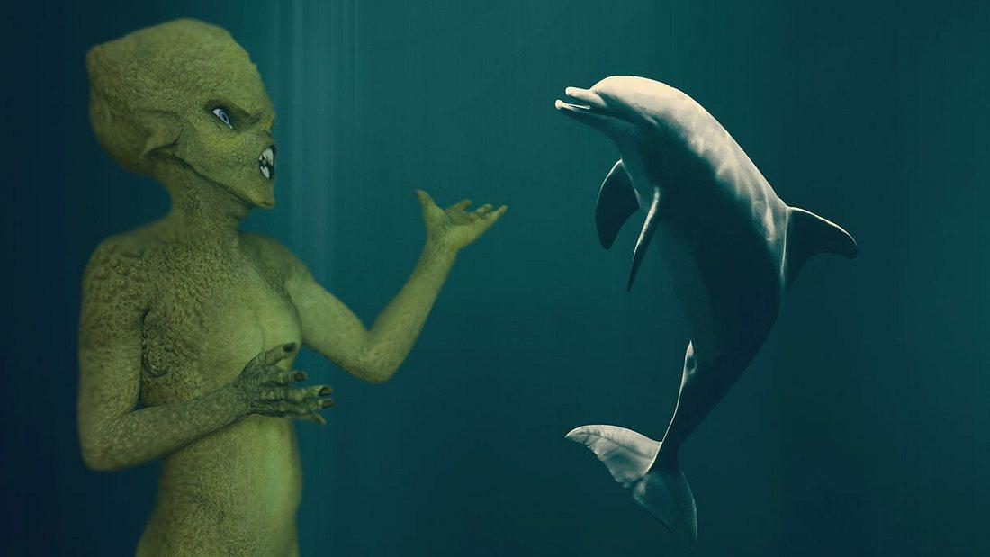 Aliens und Delfine
