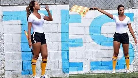 Denise Bueno: Die wohl heißeste Linienrichterin der Welt - Foto: instagram/denisebuenomusa