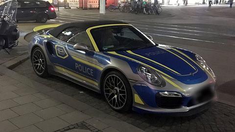 Münchener Polizei-Porsche erhitzt die Gemüter
