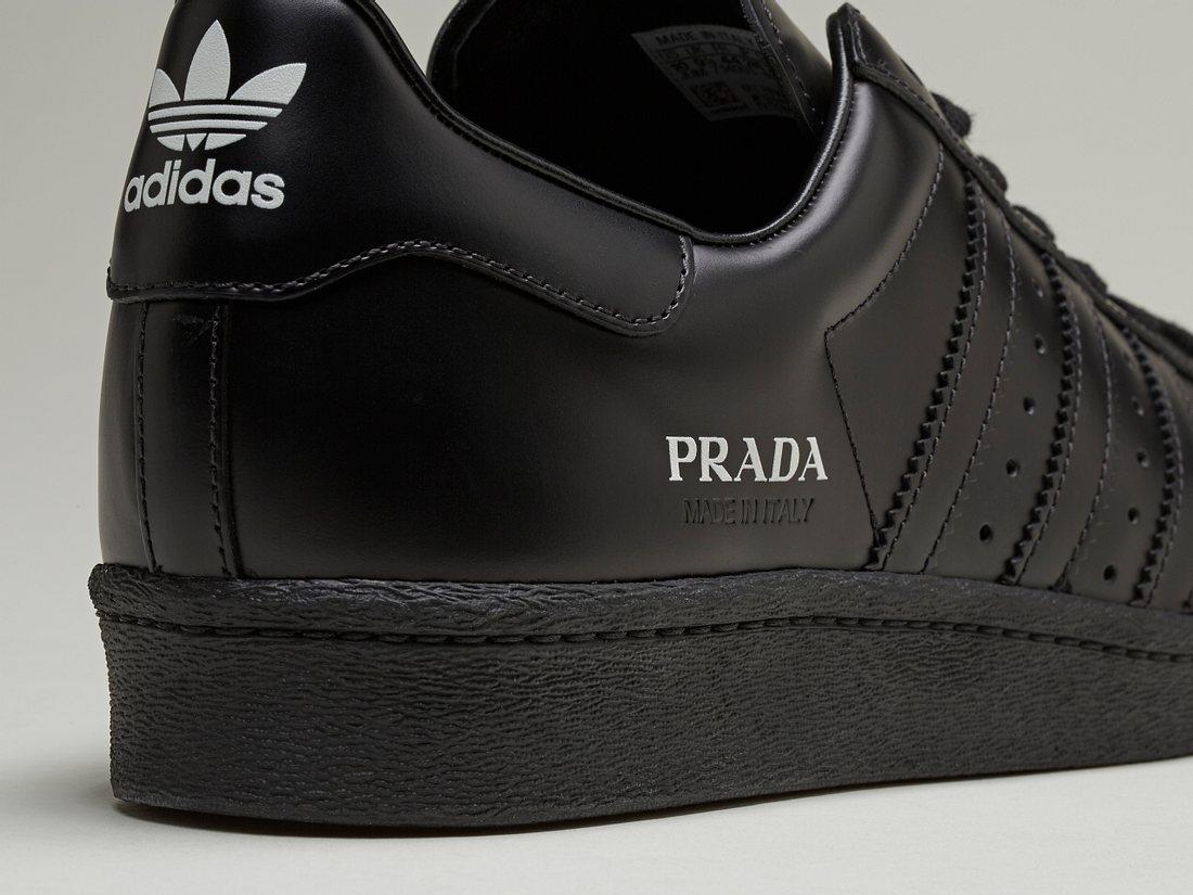 Der Prada Superstar in Monochrom Schwarz von adidas