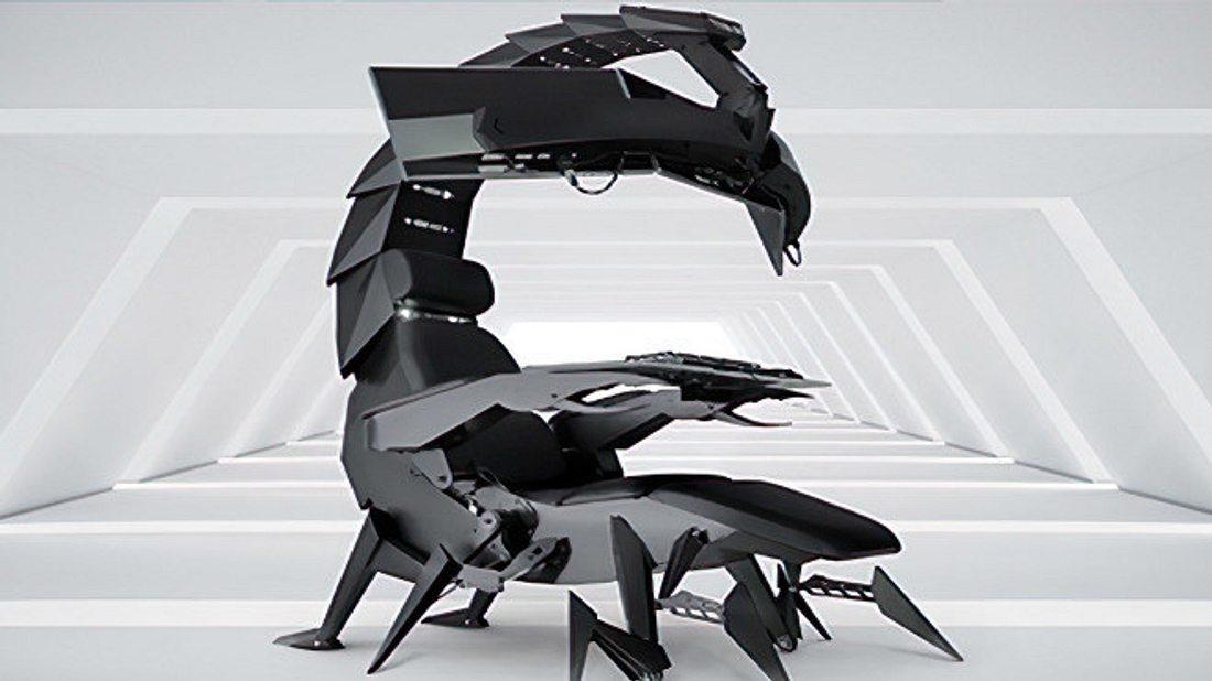 Der Skorpion-Gaming-Stuhl von Cluvens