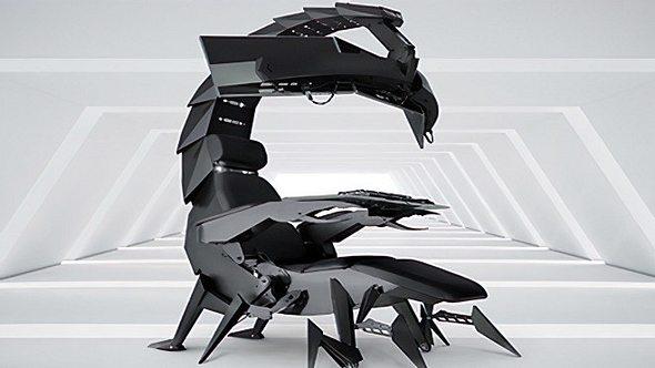 Dieser Skorpion-Gaming-Stuhl sticht mitten ins Gamer-Herz