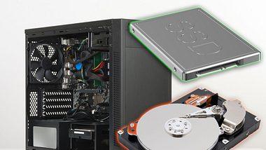 SSD- vs. HDD-Festplatte - Foto: iStock / yorkfoto / AlexLMX / atrikSlezak (Collage Männersache)