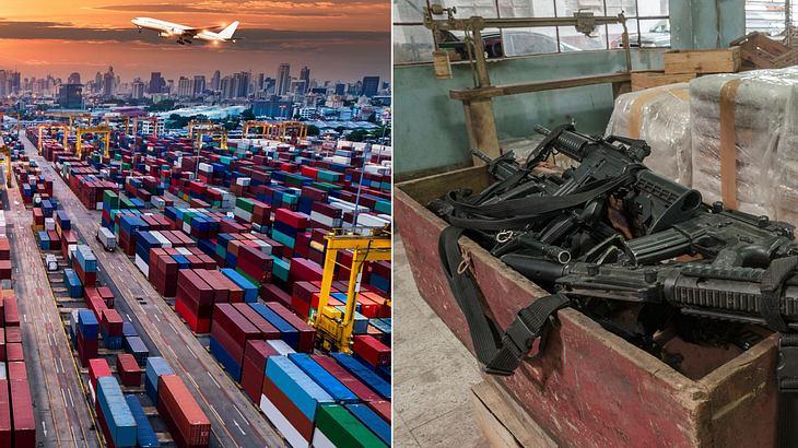 Die größten Waffenimporteure der Welt (Collage).