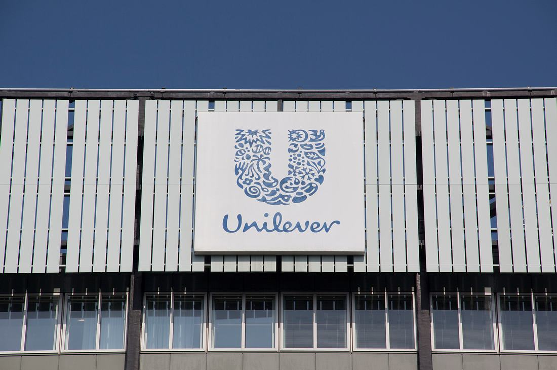 Außenansicht eines Unilever-Gebäudes