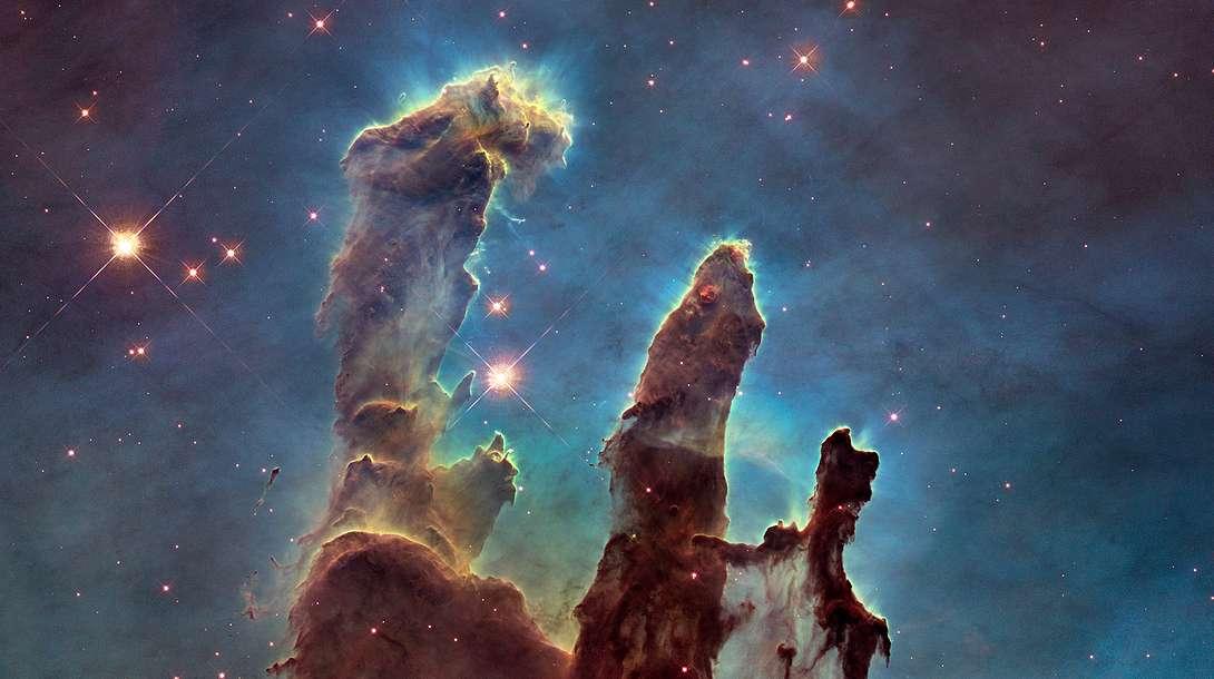 Wissenschaftler verzeichnen einen Kampf der Sterne in den Säulen der Schöpfung