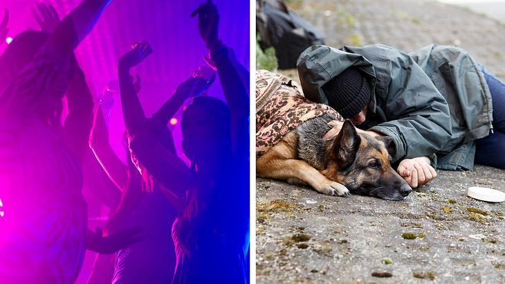 Obdachlose finden Zuflucht in der Disko