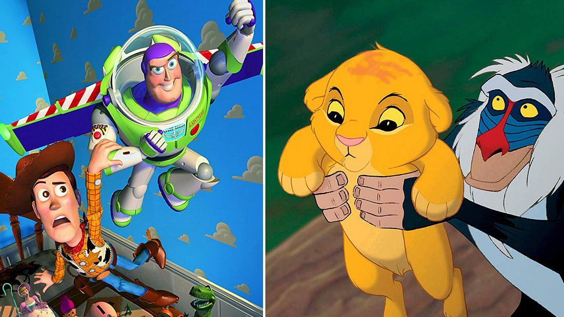 Toy Story und Der König der Löwen