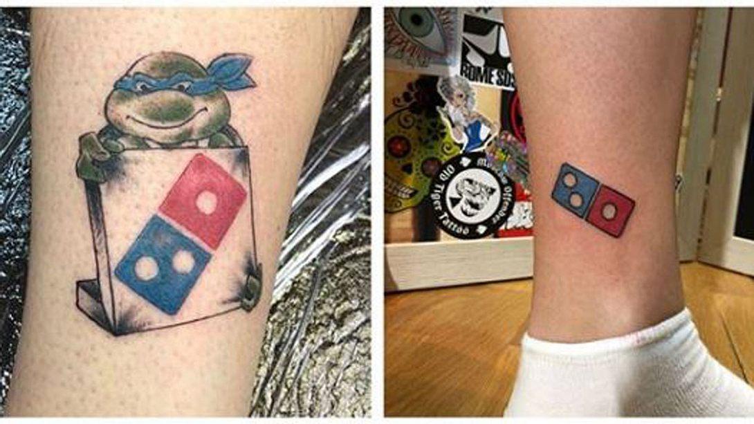 Dominos Pizza vergibt lebenslanges Pizza-Abo für Domino-Tattoo