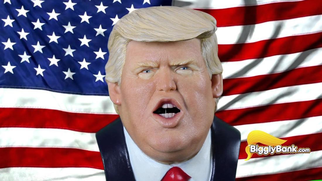Biggly Bank: Dieses sprechende Donald-Trump-Sparschwein belohnt jede Münze mit einem Zitat