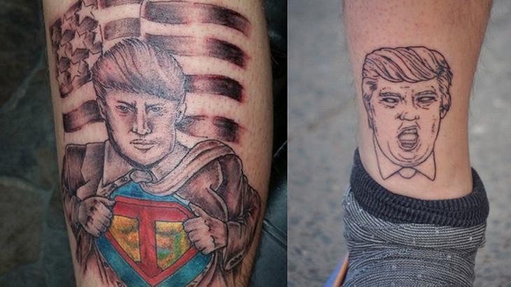 Die 8 hässlichsten Donald-Trump-Tattoos