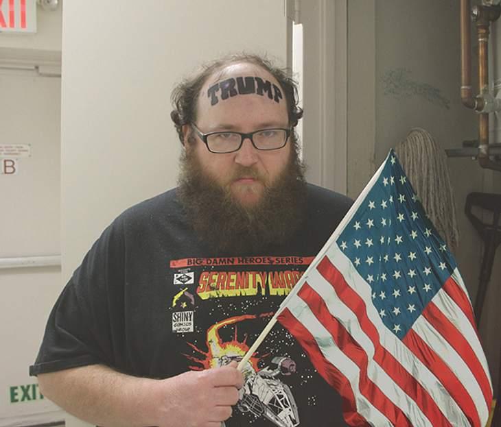 Ein Donald-Trump-Tattoo