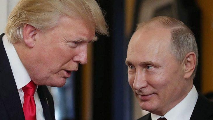 Donald Trump (links) und Wladimir Putin