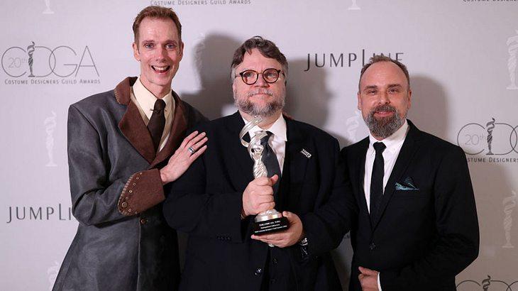 Doug Jones (links), Guillermo del Toro (mitte) und Luis Sequeira