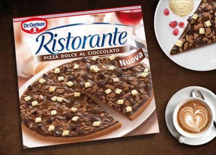 Kein verfrühter April-Scherz: die Schokoladen-Pizza Dr. Oetker Ristorante Dolce Al Cioccolato ist demnächst im Handel erhältlich