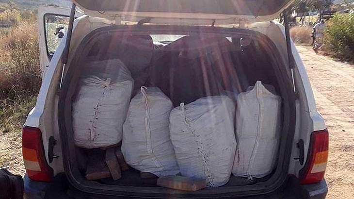 Die Säcke waren voll mit Drogen
