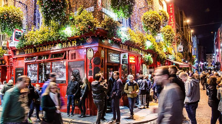 Silvester vor der Temple Bar, Dublin