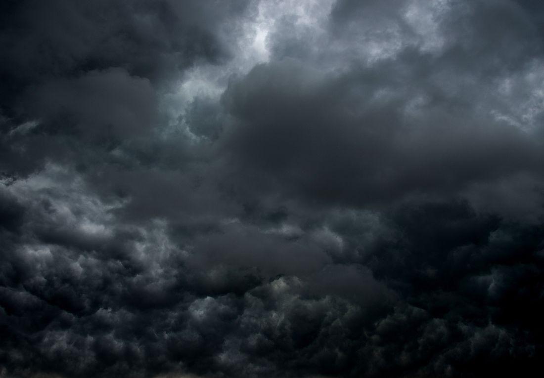 Dunkle Sturmwolken