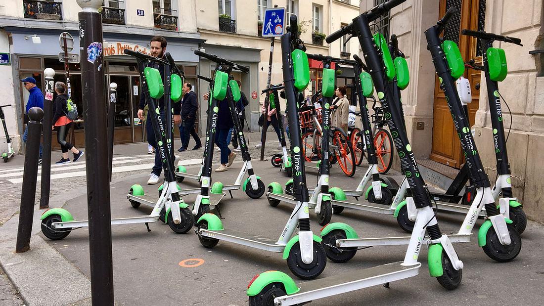 E-Scooter-Parkplatz