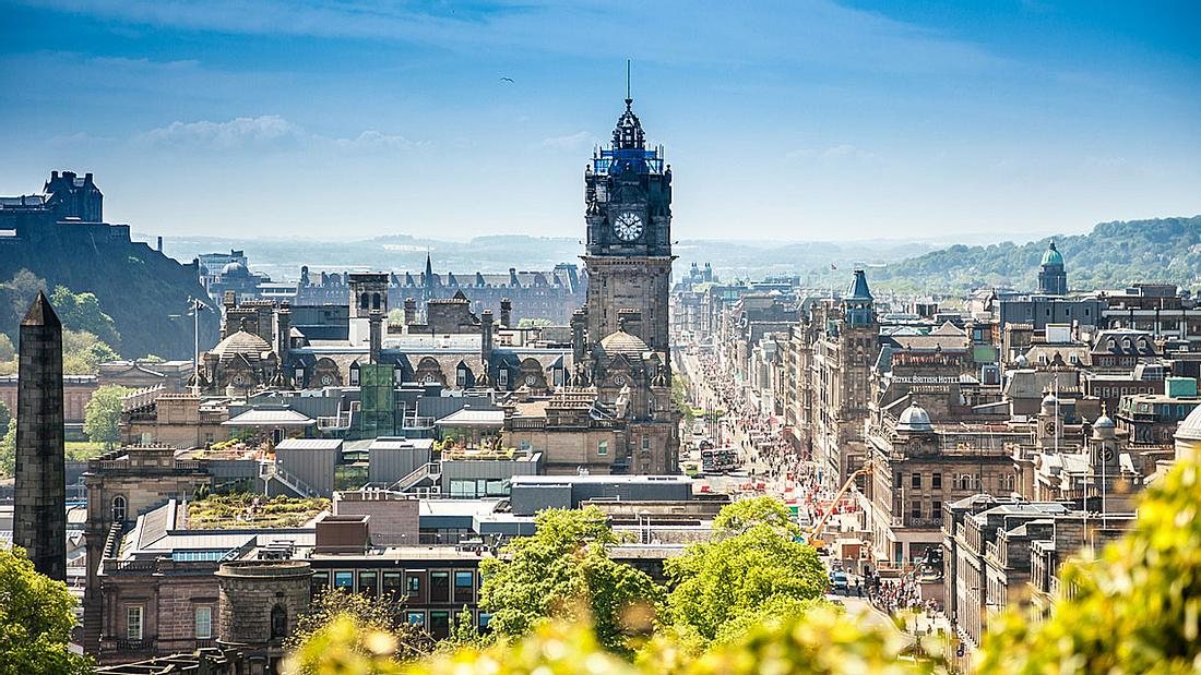 Edinburgh - Hauptstadt von Schottland.