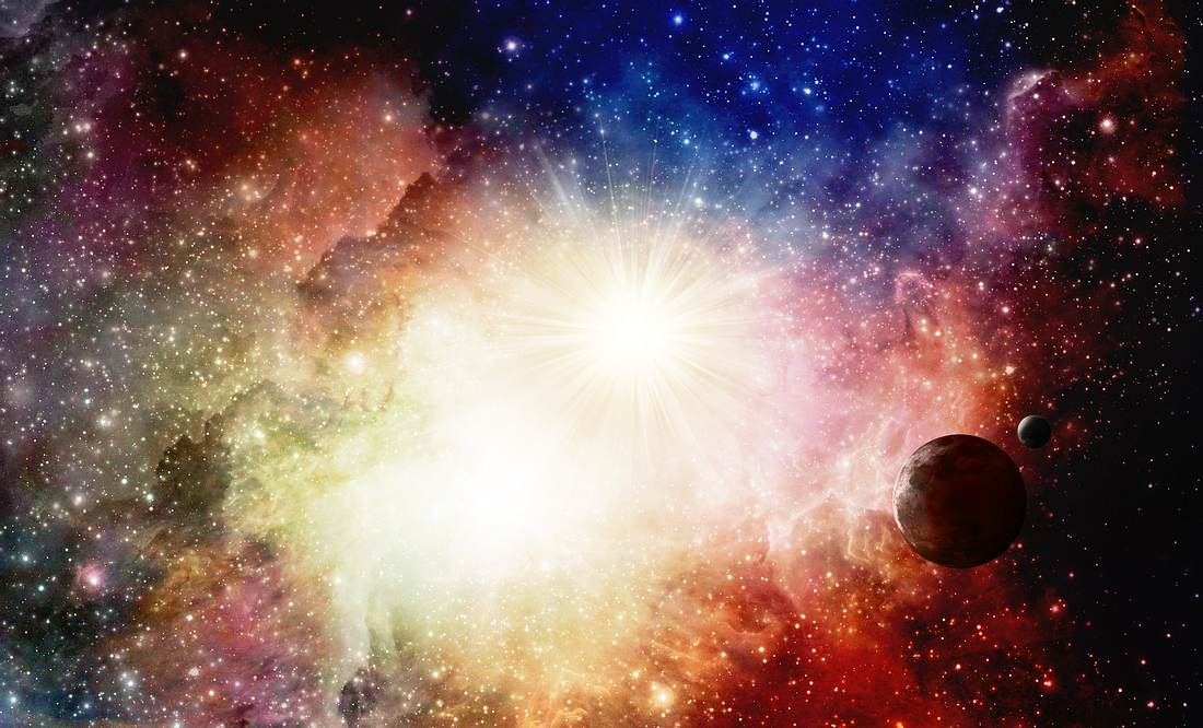 Eine Supernova mit Planeten