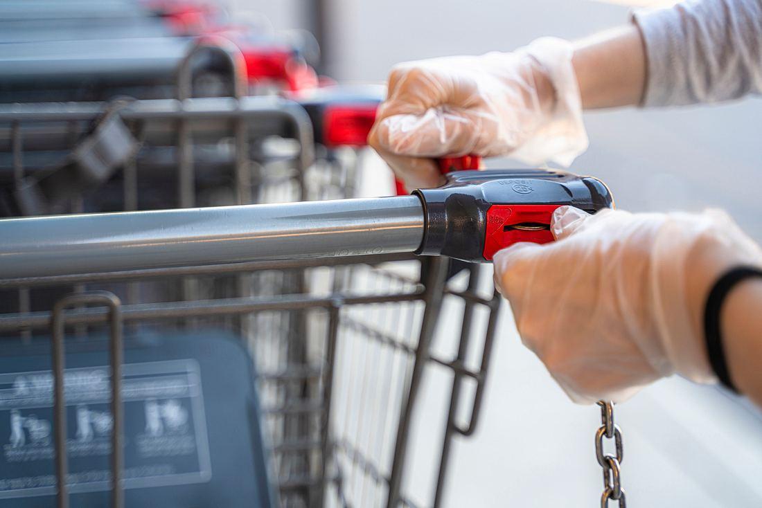 Einkaufswagen entsperren