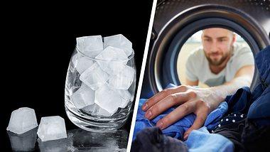 Er wirft Eiswürfel in den Wäschetrockner - der Grund ist genial!