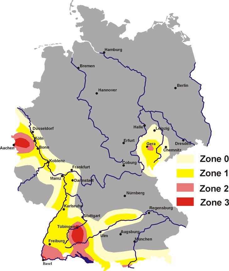 Erdbeben sind in Deutschland keine Seltenheit