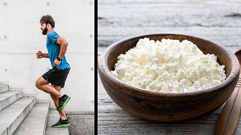Erst trainieren, dann essen - aber das Richtige! - Foto: iStock / Nikada / Arx0nt (Collage Männersache)