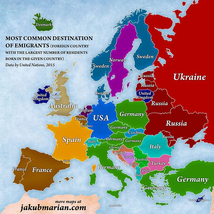 Wohin wandern die Bürger Europas aus?