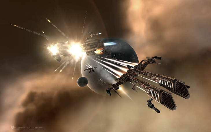 Ein Raumschiff im Internet-Game EVE Online