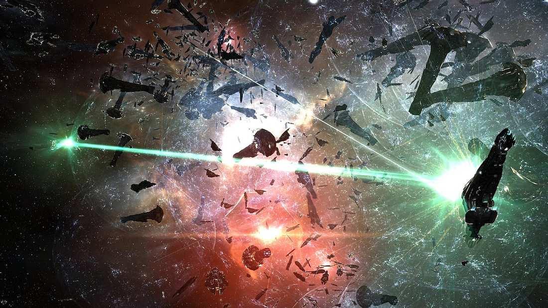 Eine Szene aus EVE Online