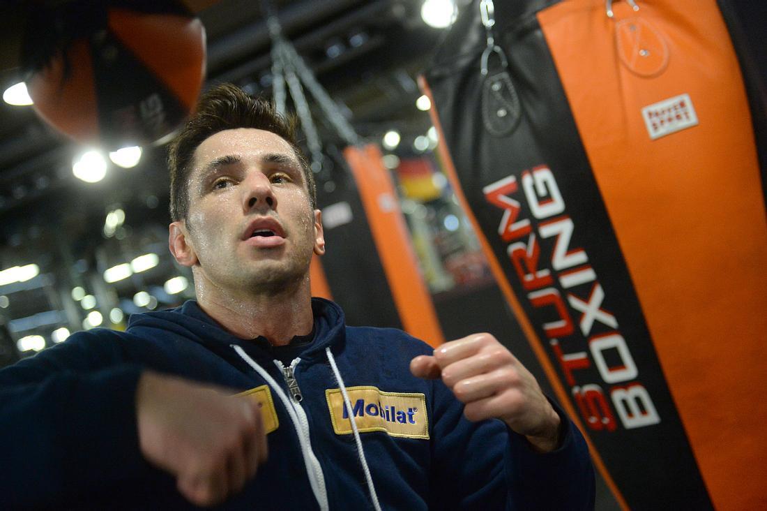 Felix Sturm beim Training