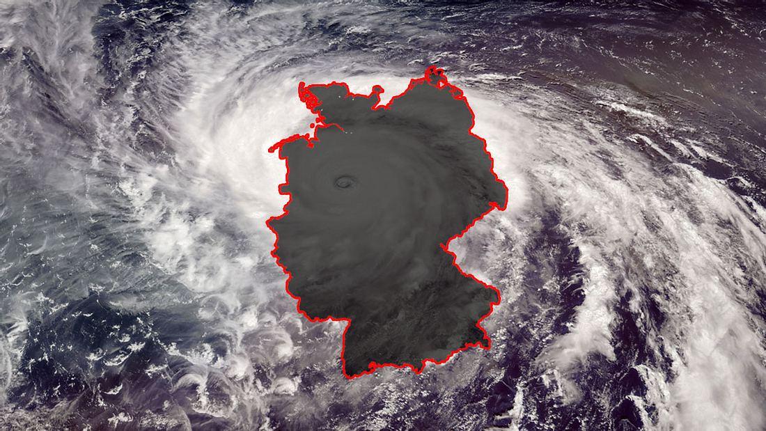 Ex-Hurrikan Dorian über Deutschland