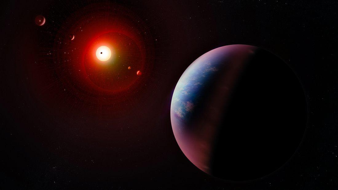 Exoplanet (künstlerische Darstellung)