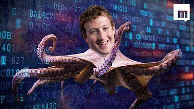 Die Facebook-Datenkrake Mark Zuckerberg - Foto: Montage Männersache/ iStock